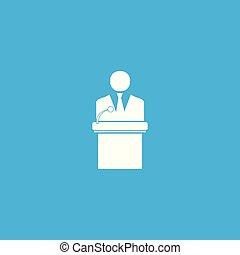Businessman icon illustration.