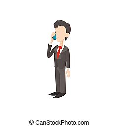 Businessman icon in cartoon style