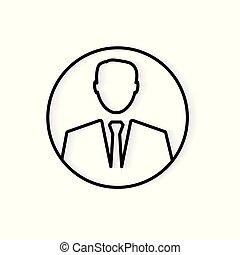 businessman icon- vector illustration
