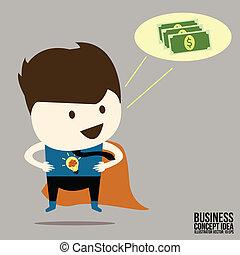 Businessman idea a money thinking