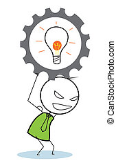 businessman idea progress