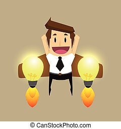 businessman Idea rocket