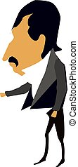 Businessman, illustration, vector on white background.