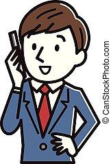 Businessman in a call