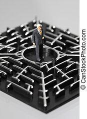 Businessman in a labyrinth