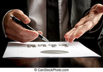 Businessman in a meeting or presentation