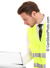 Businessman in a reflective vest