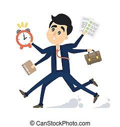 Businessman in a rush.