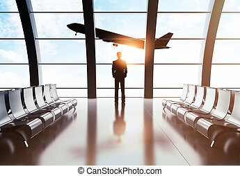 businessman in airport