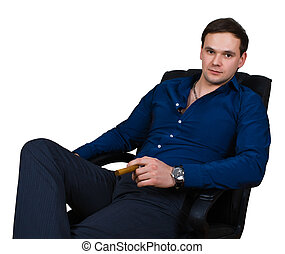 businessman in armchair