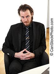 Businessman in board room