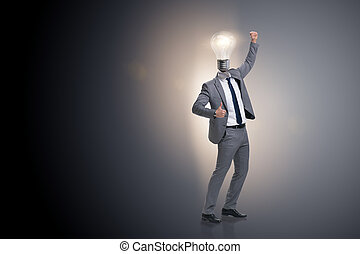 Businessman in brainstorming business concept