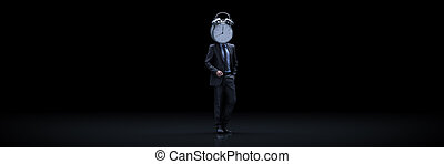 Businessman in business concept. 3d rendering