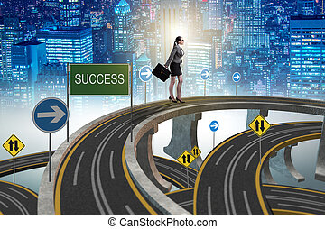 Businessman in business success concept