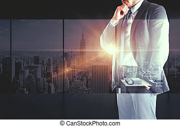 Businessman in city