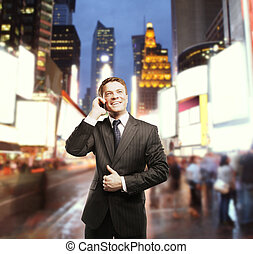 businessman in city