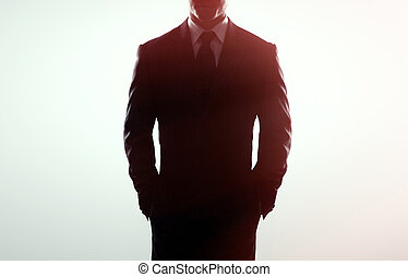 businessman in coat