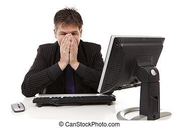 businessman in despair