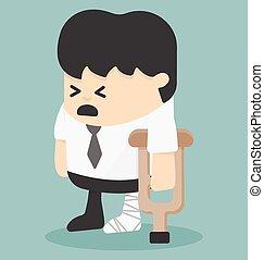 businessman in injured bandages