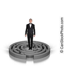 businessman in labyrinth