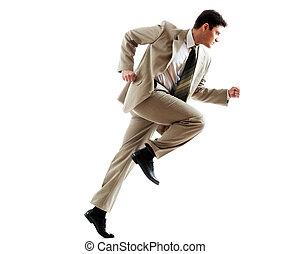 Businessman in motion