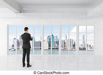 businessman in room