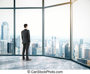 Businessman in room