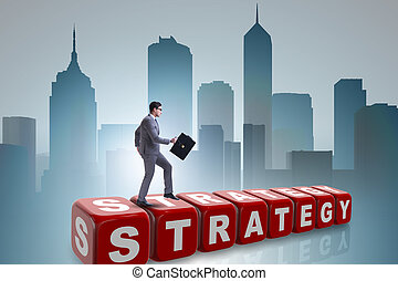 Businessman in strategy business concept