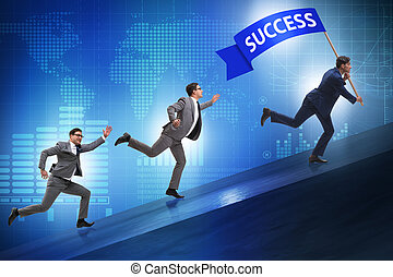 Businessman in success business concept