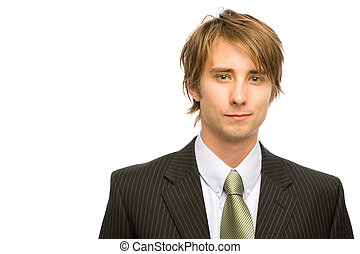 A businessman in a suit and tie