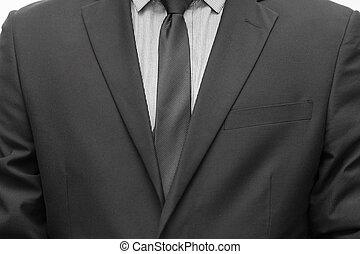Businessman in suit and tie necktie
