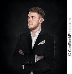 Businessman in suit.