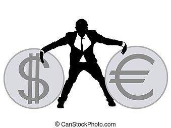 Businessman in suit four