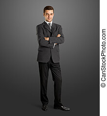 Businessman In Suit Full Length