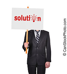 signboard with solution