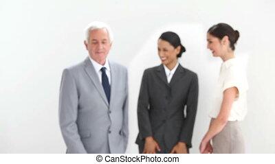 Businessman in suit posing