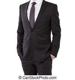 businessman in suit on a white background