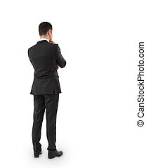 businessman in suit thinking