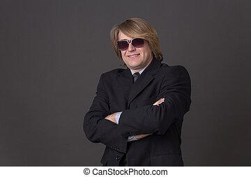 Businessman in sunglasses