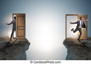 ... Businessman in teleportation concept with doors & Teleport Images and Stock Photos. 927 Teleport photography and ...