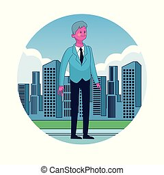 Businessman in the city