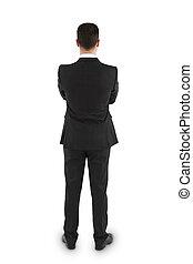 businessman in thinking
