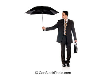 Businessman insurance agent