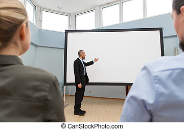 businessman is doing a presentation