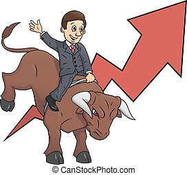 Businessman is riding bull 3