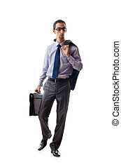 Businessman isolated on the white