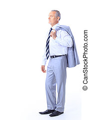 businessman isolated on white bacg