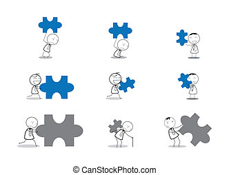 businessman jigsaw