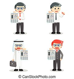 businessman job vacancy set