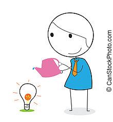 businessman keeping idea